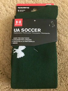 UA Under Armour Over the Calf Youth Soccer Socks Hunter Green Size Youth Large