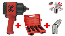 """Chicago Pneumatic CP7763  3/4"""" Air Impact Wrench with Socket Set and Air Flex"""
