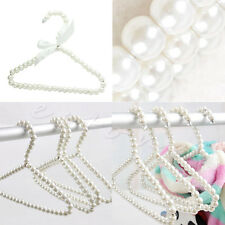 3Pcs Fashion Pearl Bow Clothes Clothing Hangers For Kids Children Pet Dog Cat