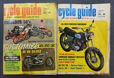 Vintage CYCLE GUIDE Custom Motorcycle Catalog Set October 1967 & February 1969