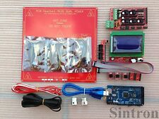 3D Printer Kit Ramps 1.4 + mega 2560+ MK2B Heatbed + pulley belt + A4988 reprap