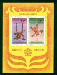 Indonesia Scott #1110 MNH S/S Orchids Flowers FLORA CV$13+ ISH-1