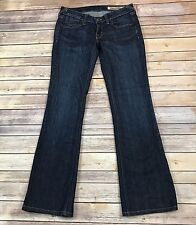 "Karmel & Alden Women's Jeans Boot Cut Low Rise Dark Rinse Sz 27 W28"" L31"""