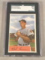 1954 BOWMAN #196 BOB LEMON SGC 84 NM 7 HOF