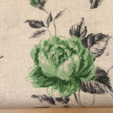Shabby Chic Green Roses 100% Cotton Fabric. Price per 1/2 metre