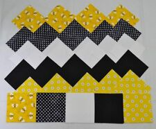 BEES & BLOSSOMS IN YELLOW & BLACK GROUPING 4 Inch Quilting Squares