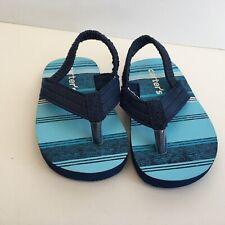 Carter's Boys Toddler Blue Slip on Sandals Size 1-2  Beach Summer
