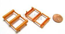2 x ALBEDO Ersatz-Achshalter Unterteil ASG-orange 3-Achs-Auflieger 1:87 - 0238