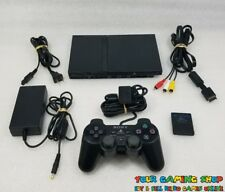 Sony PlayStation 2 PS2 Slim Console *Genuine Controller VG+ CONDT CLEANED TESTED
