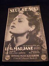 Partition Seul ce soir Léo Marjane Music Sheet