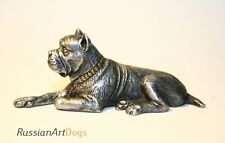 Italian Cane Corso statuette dog miniature pewter figurine tin