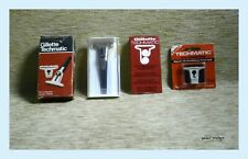 Gillette Techmatic Shaving Razor NIB Made in England + 1 Extra Cartridge Vintage
