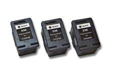 3x Cartucho para HP Photosmart C3180 C3183 NEGRO BLACK