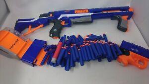 Large Bundle Of Nerf Gun Rampage, 25 Max N- Strike Elite Drum & Lots Of Bullets