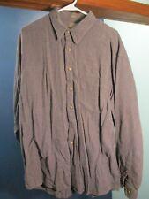 XL gray BUTTON UP LONG SLEEVE POCKET shirt by HAGGAR