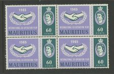 Elizabeth II (1952-Now) Mauritian Stamp Blocks
