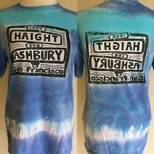 HAIGHT ASHBURY STREET SIGN San Francisco TIE DYE Grateful Dead T-Shirt Small