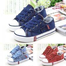 Markenlose Schuhe für Jungen aus Segeltuch mit Schnürsenkeln