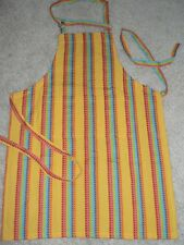 Crate & and Barrel CALIENTE APRON w/Pocket- NEW- MULTI-BRIGHTS NWOT