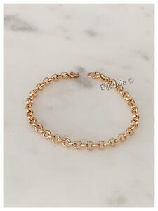 Bracelet Maille Jaseron 18CM En Plaqué Or 18 Carats 750/1000 Bijoux Femme