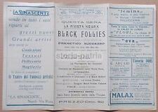 TEATRO_POLITEAMA GIACOSA_NAPOLI_1927_BLACK FOLLIES_DOUGLAS_JAZZ BAND_FOLLIE NERE