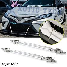 "Adjustable 6""-9"" Chrome Front Bumper Splitter Support Rod Bars For Toyota Camry"