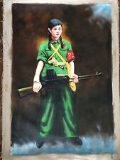 Chinese Contemporary Cultural Revolution Themed Original Acrylic Painting
