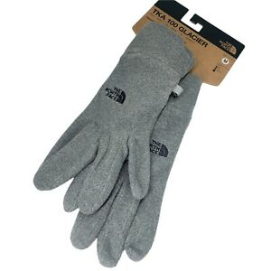 The North Face TKA 100 Glacier Gloves Sz M Solid Gray 5 Dimension Fit NWT