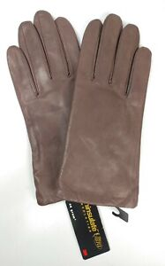 Isotoner Dark Brown Leather Winter Gloves Thinsulate Ultra New 8