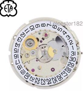 NEW Genuine ETA 2824.2 Automatic Watch Movement & Stem - UK Seller - ETA 2824-2