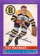 1954-55 TOPPS VINTAGE HOCKEY CARD#  47 CAL GARDNER  (BOSTON BRUINS)