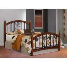 Hillsdale Burton Way Bed Set, Full, Black Powder Coat/Cherry - 1258BF