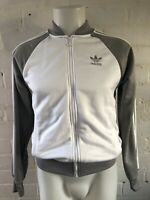 Adidas Women's Originals Track Top Size 8  White Grey Jacket