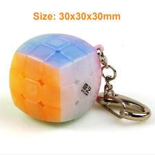 QIYI Fruit Jelly 3X3X3 Speed Magic Cube Keychain Stickerless Twist Bread Cube