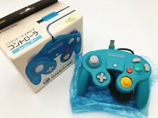 【Boxed】Nintendo Official GameCube controller Emerald Blue F/S #1028A