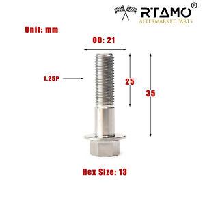 RTAMO | M6 M8 M10 Various Length Solid Titanium Alloy Gr5 Hexagon Flange Bolts