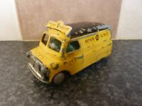 VINTAGE CORGI TOYS No.408 YELLOW WITH BLACK ROOF BEDFORD AA VAN GOOD CONDITION