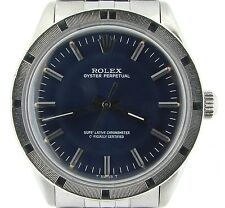 Mens Rolex Stainless Steel Oyster Perpetual No-Date Watch Jubilee Blue 1007