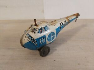 Vintage Tin Friction toy helicopter pan am japan 1960's