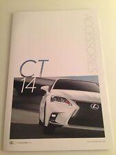 2014 Lexus CT Accessories 6-page Original Sales Brochure