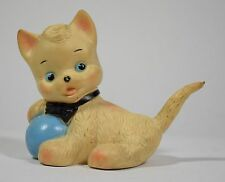 Ledra pupazzo gatto rubber squeaky toy vintage cat squeeze rare Ledraplastic-05Z