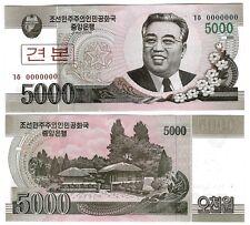 KOREA 5000 5,000 WON SPECIMEN 2008 UNC P 66 s