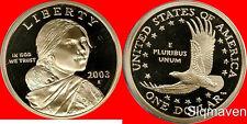 2003 S Sacagawea Dollar Deep Cameo Gem Proof No Reserve