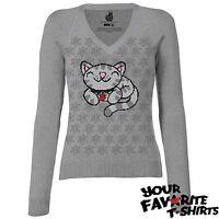 Big Bang Theory Soft Kitty Sheldon Cooper Knit Women Junior Sweater S-XXL