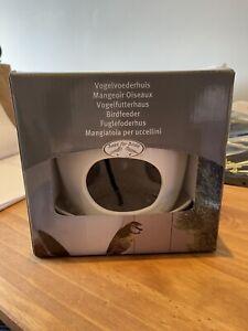 Esschert Design Best For Birds White Ceramic Birdfeeder - BNIB