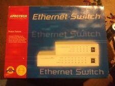 Aprotech 10/100 Mbps 8 Ports Fast Ethernet Lan Desktop Rj-45 Network Switch Hub