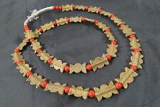 Strang 15mm Messingperlen T1 Gelbguß Ghana Brass Beads Ashanti Akan Afrozip