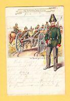 1903 Künstler AK Litho CARL HENCKEL Dresden - Kgl. Sächs. Feldartillerie
