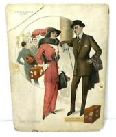 1915 Autumn Winter Suit Dress Clothing Store Advertisement Display Sign Board