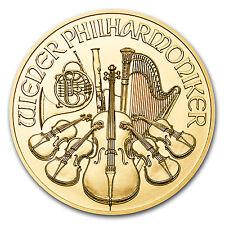 2017 Austria 1/4 oz Gold Philharmonic BU
